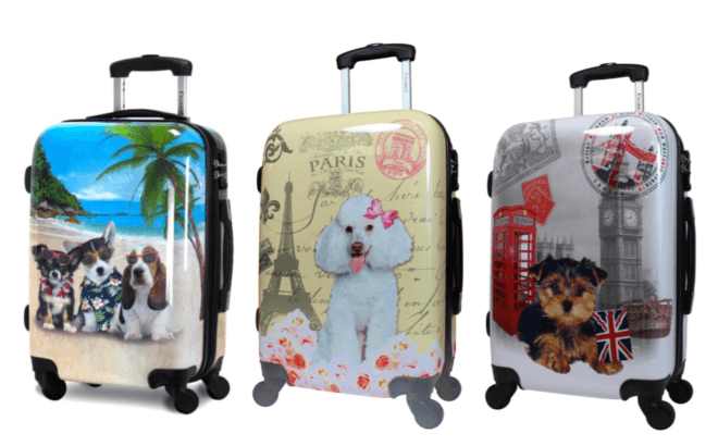 Cute dog-themed carry-ons