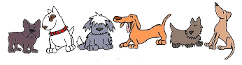 Cute cartoon of dog pack
