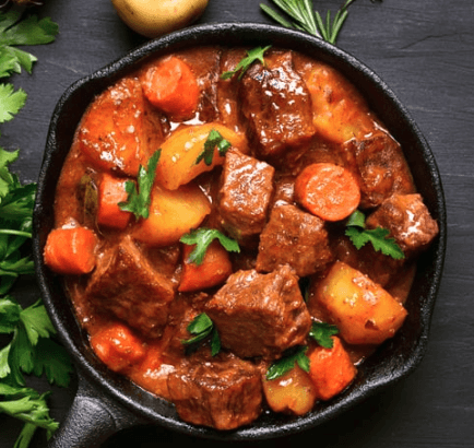Irish beef stew for dogs